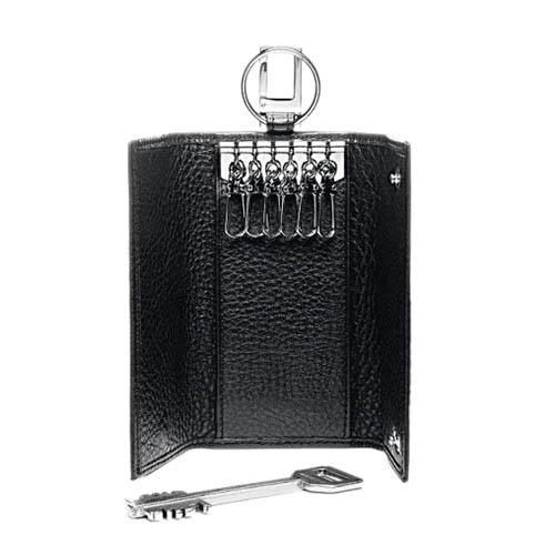 Ключница Piquadro Modus из кожи черного цвета, фото