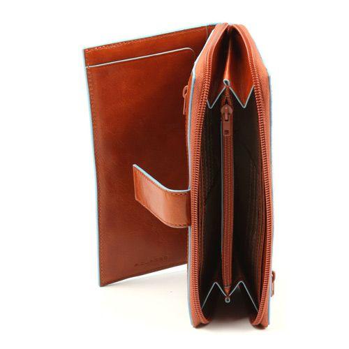 Портмоне Piquadro Blue square с карманчиком для монет на молнии, фото