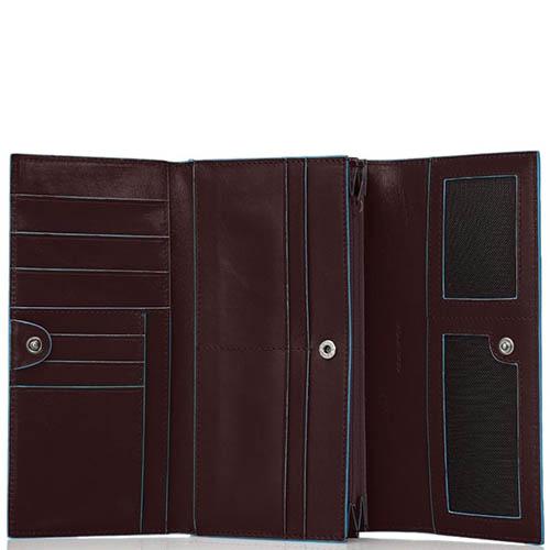 Коричневое портмоне Piquadro Blue Square с тремя отделениями, фото