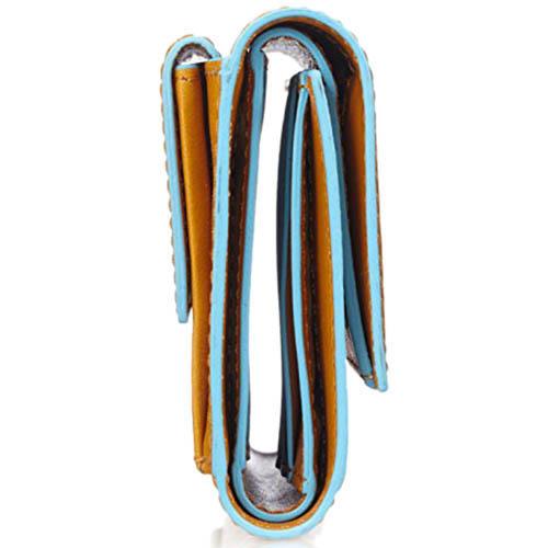 Горизонтальное желтое портмоне Piquadro Blue Square Vibe из кожи, фото