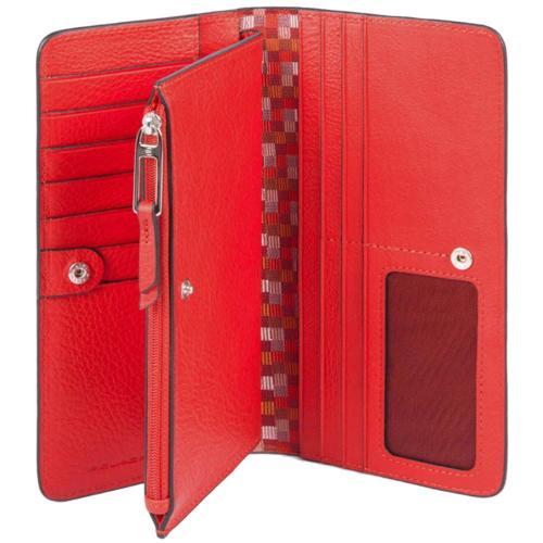 Красное портмоне Piquadro Muse, фото