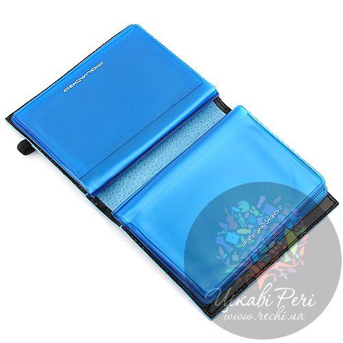 Кредитница Piquadro Blue square на резинке, фото