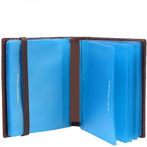 Кредитница Piquadro Vibe коричневая на 20 кредитных карт, фото