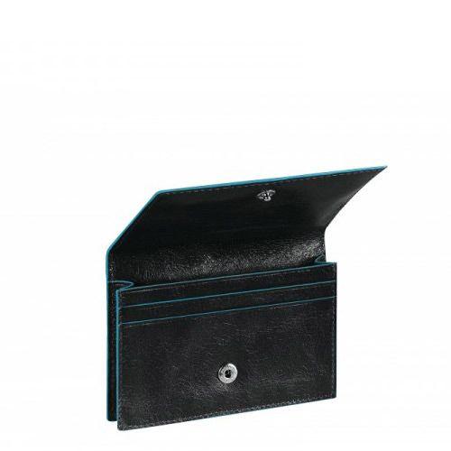 Визитница Piquadro для своих визиток на кнопке Blue Square черная, фото