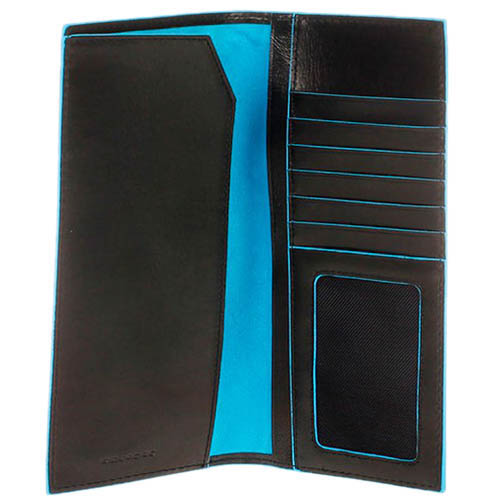 Вертикальное портмоне-тревеллер Piquadro Blue Square из кожи, фото