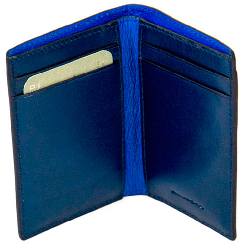 Кредитница Piquadro Bold с RFID защитой в синем цвете, фото