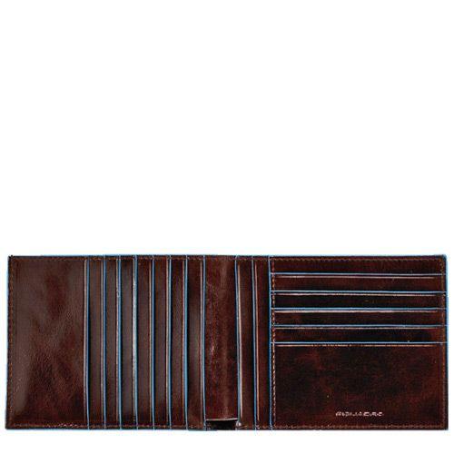 Классическое портмоне Piquadro для 12 кредитных карт Blue square, фото