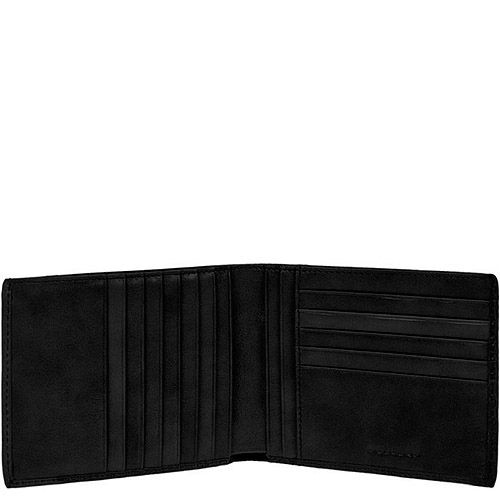 Портмоне мужское Piquadro Signo черного цвета на 12 кредитных карт, фото