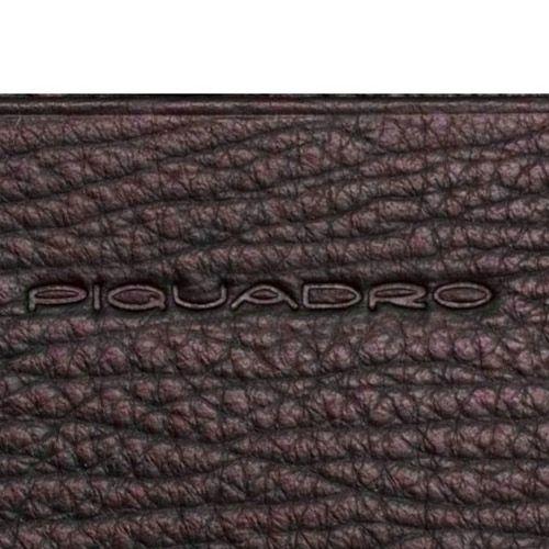 Кредитница Piquadro Signo коричневая с отделением на молнии, фото
