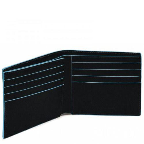 Классическое портмоне Piquadro для 8 кредитных карт Blue square, фото