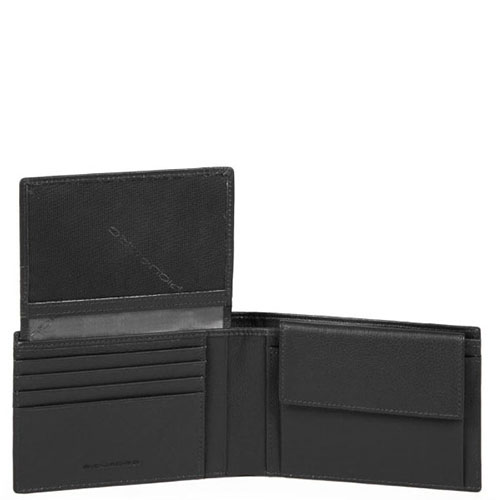 Портмоне Piquadro Pulse с отделением черного цвета, фото