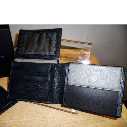 Портмоне Piquadro Vibe серо-синее с отделением для документов, фото