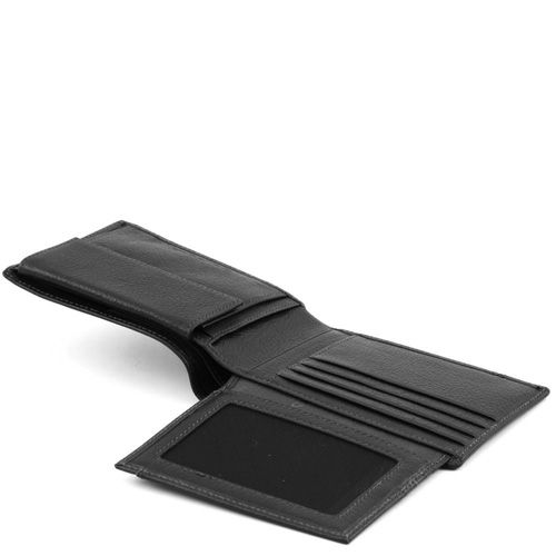 Портмоне Piquadro Vibe черное с отделением для документов, фото