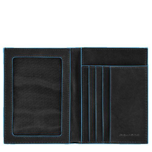 Портмоне Piquadro с отделением для документов Blue square черное, фото