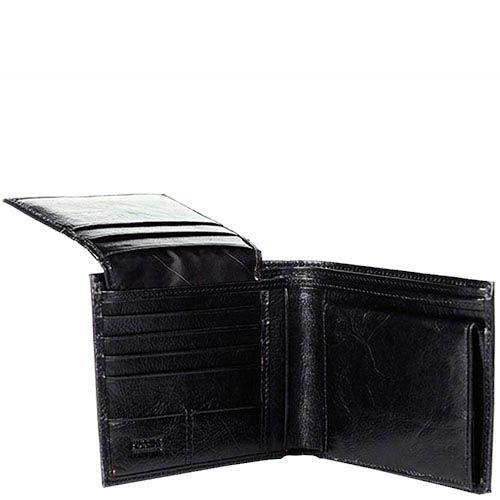Черный вместительный кошелек Puccini Masterpiece с большим количеством карманов, фото