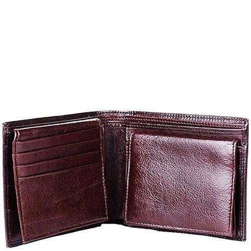 Горизонтальное коричневое портмоне Puccini Masterpiece с множеством карманов, фото