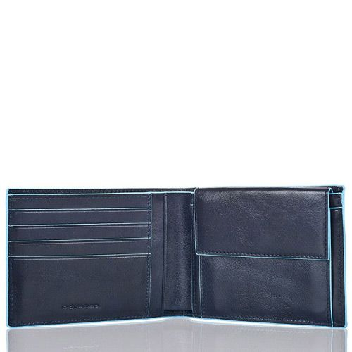 Портмоне Piquadro с отделением для монет Blue Square темно-синие, фото