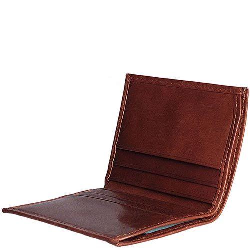 Портмоне Piquadro Tamponato коричневого цвета, фото