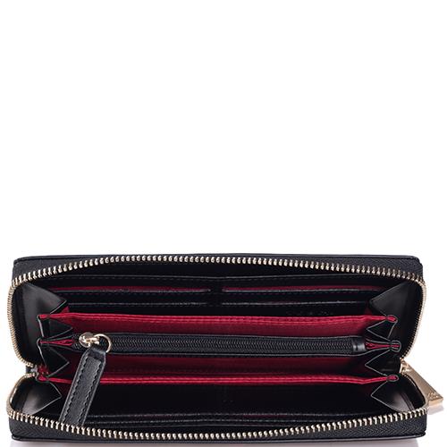 Черный кошелек Tosca Blu с цветочным принтом, фото