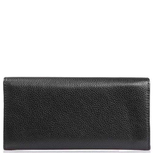 Женское портмоне Coccinelle с фирменным логотипом черного цвета, фото