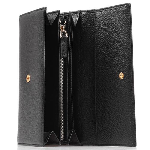 Черное портмоне Coccinelle с кардхолдером, фото