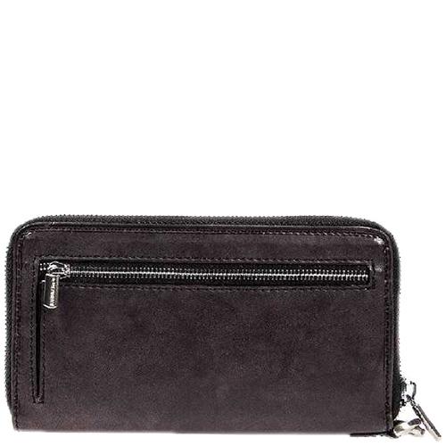 Черное портмоне Tony Perotti Vintage со съемным кистевым ремнем, фото