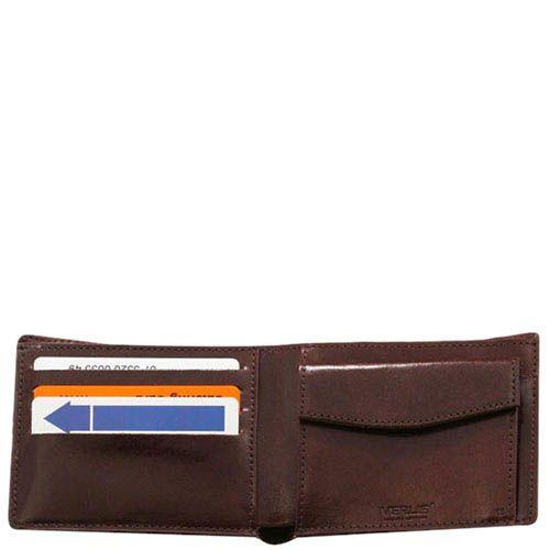Классический кожаный кошелек Verus Mil коричневого цвета, фото
