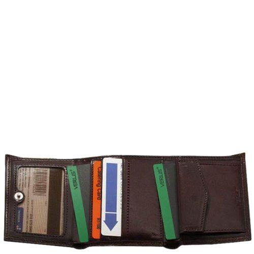 Маленький кошелек унисекс Verus Mon из натуральной коричневой кожи, фото