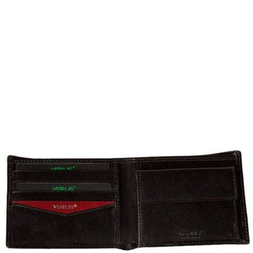 Аккуратное черное портмоне Verus Paris из кожи, фото