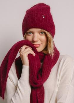 Шарф GD Cashmere бордового цвета, фото
