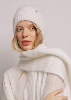 Белый шарф GD Cashmere из ангоры, фото
