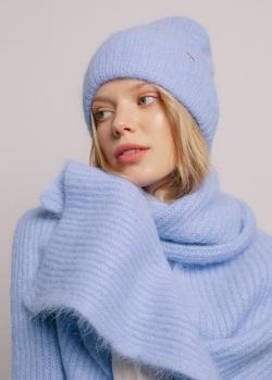 Шарф GD Cashmere из голубой шерсти, фото