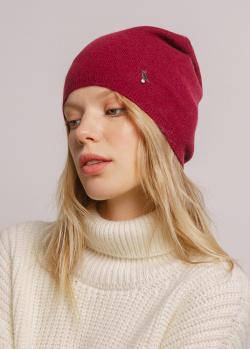 Бордовая кашемировая шапка GD Cashmere, фото