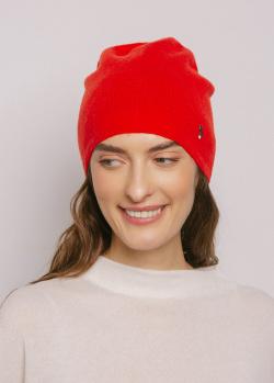 Шапка кашемировая GD Cashmere красная, фото