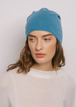 Шапка кашемировая GD Cashmere голубого цвета, фото