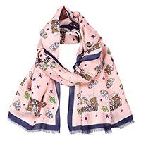 Женский шарф Moschino с брендовым принтом, фото