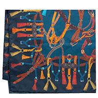 Шелковый платок Etro синего цвета с принтом, фото