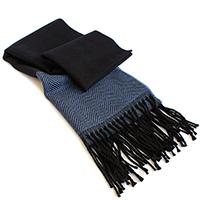 Двуцветный шарф Maalbi из шерсти, фото