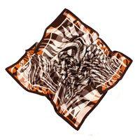 Шелковый платок Ostinelli в теплых оттенках мокка, фото