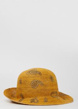 Соломенная шляпа Etro с принтом пейсли, фото