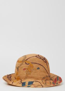 Круглая шляпа Etro с тематическим принтом, фото