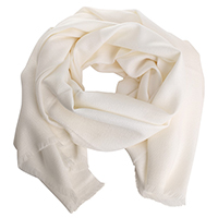 Шерстяной палантин Maalbi белого цвета, фото