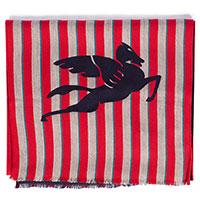 Красный шарф Etro в полоску, фото