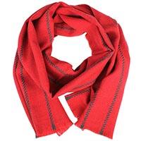 Красный теплый шарф Maalbi в полоску из шерсти, фото