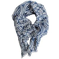 Синий палантин Fattorseta с цветочным принтом, фото
