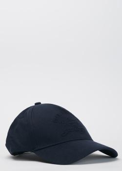 Синяя кепка Paul&Shark с брендовой вышивкой в тон, фото