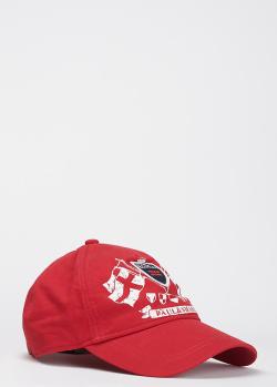 Красная бейсболка Paul&Shark с принтом, фото