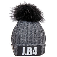 Серая шапка J.B4 Just Before с помпоном, фото