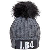 Серая вязаная шапка J.B4 Just Before с помпоном, фото