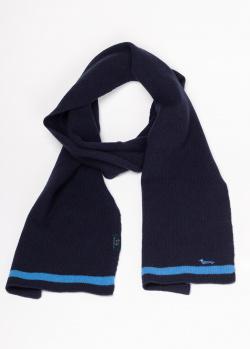 Синий шарф Harmont&Blaine с контрастными полосками , фото